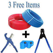 """2 rolls 1/2"""" x 300 feet PEX Tubing for Potable Water Combo W/ 3 Free Items"""