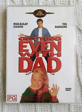 GETTING EVEN WITH DAD – DVD, REGION - 4, LIKE NEW, FREE POST IN AUSTRALIA