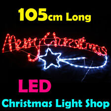 RED WHITE Merry Christmas Outdoor Christmas Ropelight Xmas Rope Light LED 105cm