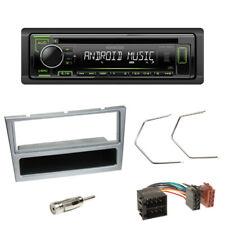 Kenwood CD USB Autoradio grün für Opel Omega Vivaro Blende matt chrom+ISO Adap.