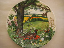 "Wedgwood Colin Newman'S Country Panorama ""Meadows And Wheatfields"" 1987 Plate"