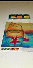 "Diamond Art Kit Diy Full Drill Round 30X30 Cm Pink "" Starfish In A Glass """