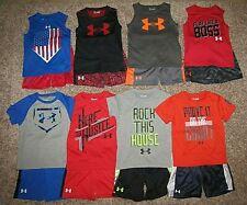 Under Armour Boys Set Shirt Shorts Size 4