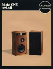 Altec Lansing Model One Series II Original Brochure