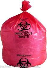 """Biohazard Bags LD Red Infectious Waste Liners 1.5 Mil Thick 31"""" x 43"""" 70 / Case"""