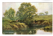 The Brook - Somersby Art Postcard c1910 / Horncastle