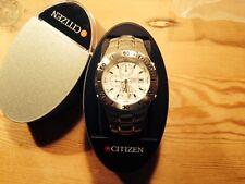 New  Reloj Watch Montre CITIZEN Quartz - Steel Acero  Chrono - White dial Nuevo