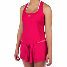 nwt~adidas Adizero FEATHER TENNIS DRESS SET BRA TOP TANK L Sharp Red Turbo 2 pc