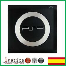TAPA CUBIERTA PLASTICO UMD PSP 1000 1004 NEGRO NEGRA CON ANILLO DE METAL RING