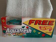 1993 Vintage Hot Wheels Thunderstreak  Aquafresh Promo with Box, No Toothpaste