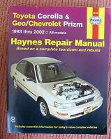 Toyota Corolla Geo Chevrolet Prizm 1993-2002 Haynes Repair Manual