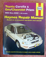 Toyota Corolla Geo Chevrolet Prizm 1993-2002 Haynes Repair Manual