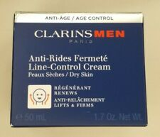 Clarins Men Line-Control Cream For Dry Skin Lifts & Firms - 50mL / 1.7 Oz Sealed