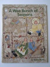 A Wee Bunch of Seasons Folk Art Painting Pattern How-To Book Dolls Bunny Garden