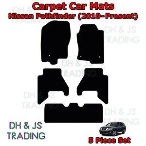 (10-21) Fits Nissan Pathfinder 7 Seater Tailored Car Mats Black 5pc Mat Set