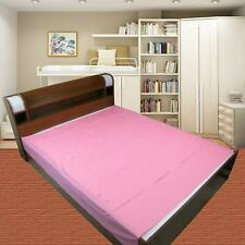 Waterproof Plastic Mattress Protection Sheet King Size - 7.5 x 6.5 ft Pink KU