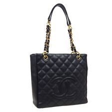 CHANEL Petit Shopping Tote PST Quilted Chain Shoulder Bag 8468609 Black 35579