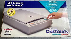 Visioneer OneTouch 7600 Flatbed USB Scanner 1200dpi 36 Bit Color