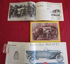 L'automobiliste N°3 :BUGATTI Brescia,Lorraine Dietrich,les Amilcar 6 CV,