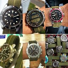 The real NDC straps® French military watch strap made of 100% MN parachute parts