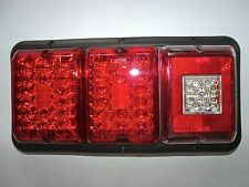TRIPLE LED'sBargman 84 85 Trailer RV Tail Light Red & Red,BU BLACK Frame ALL LED