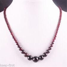 """4-12mm Natural Garnet Round Beads Gemstone Necklace 1 Strand 18"""""""