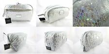 Set of 5 Quality Silver Cosmetic Bags EXCELLENT GIFTS IDEA