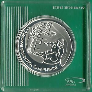 POLAND.2006. 10 zlotych. XXth Olympic Winter Games -Turin. SILVER. PROOF .
