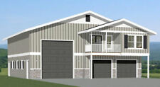 44x48 Apartment with 2-Car 1-RV Garage - PDF FloorPlan - 1,645 sqft - Model 1F