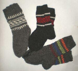 Sheep's Wool Socks 100% Natural Warm Handmade Casual All Sizes New