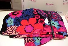 Vera Bradley Throw Floral Fiesta Plush Soft Microfleece Nwt