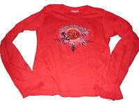 Manguun tolles Langarm Shirt Gr. 164 / 170 rot mit Druckmotiv !