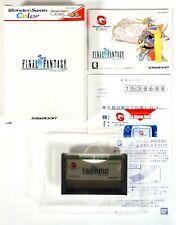 FINAL FANTASY Bandai Wonderswan Color Reg Jap Japan (2)