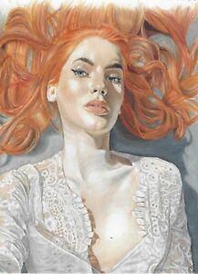 original drawing 21 x 28,5 cm 7PRev-Q art Colored Pencil Female portrait Realism