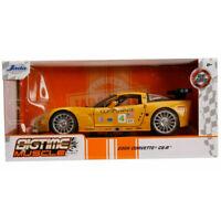 Jada 31650 Bigtime Muscle 2005 Chevrolet Corvette C6-R #4 1:24 Yellow