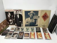 Lot Of Country Cassettes & Booklets Johnny Cash Hank Williams Waylon Willie Jr