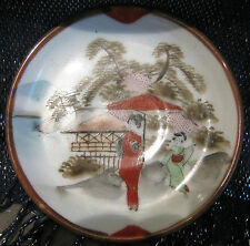 Small Oriental style saucer with Pretty image decorative design approx 4.5ins