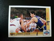 K. Johnson vs. J. Stockton Suns vs. Jazz 1991 Upper Deck Basketball Card 32
