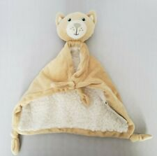 "Blankets and Beyond Kitten Kitty Cat Lovey Security Blanket Tan 11"" Sherpa"
