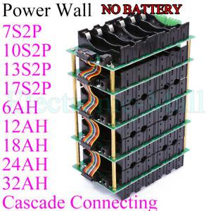 7S 10S 13S 17S 24V 36V 48V  Power Wall DIY kits 6Ah~32Ah W/ BMS Battery Bank