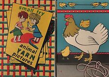 Small Fry Animal Yarn Pictures 1950s Pressman Toy Corp NY No. 2922 Very Good Box