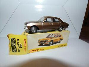 Dinky toys Meccano Peugeot 504 Spain 1452 + boite origine