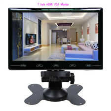 "7"" inch LCD CCTV Monitor HD PC Screen AV/RCA/VGA/HDMI 800*480 Video w/ Speaker"