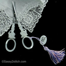 "Sajou French ""Swan"" Faux Mother of Pearl Swan Embroidery Scissor"