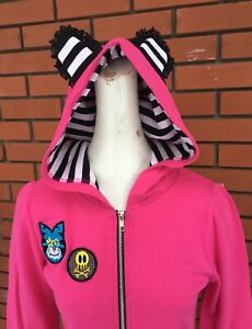 NWT~VinTaGe~Jessica Louise~Hoodie~BEAR EARS~Goth~ Hot Topic~Sz: MD