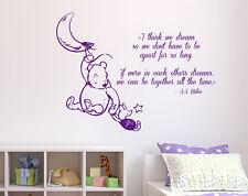 Winnie The Pooh Wall Decal Quote Piglet Vinyl Stickers Kids Nursery Decor KI20