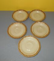 Vintage E 8000 Mikasa Whole Wheat Saucer Plate Set Of 5 Made in Japan