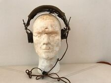 """WW2 US Army Signal Corps (Tankers?) R-14 Receivers Headset Headphones.""""Brush"""""""