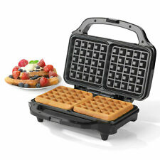 2 SLICE STAINLESS STEEL ELECTRIC WAFFLE MAKER 900 W NON-STICK Cooking Plate UK