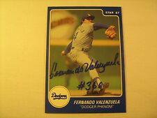 MLB 1984 Star Co. BB Card *Signed* FERNANDO VALENZUELA 1 of 13 Checklist [b5e13]